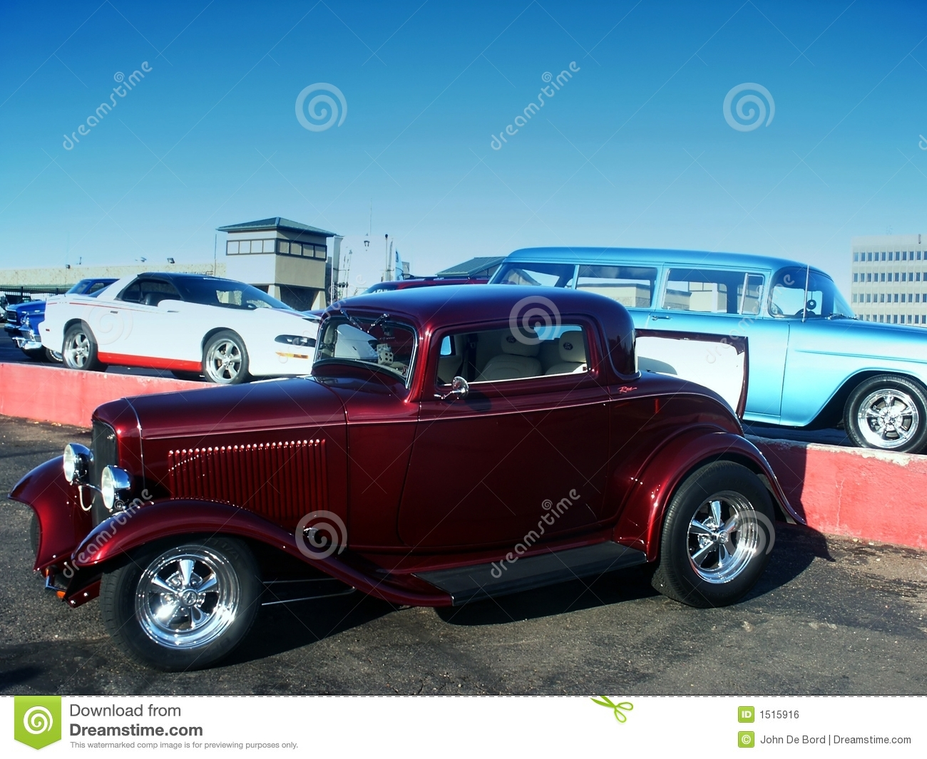 Classic Red Hot Rod At A Car Show Stock Photo - Image of show ...