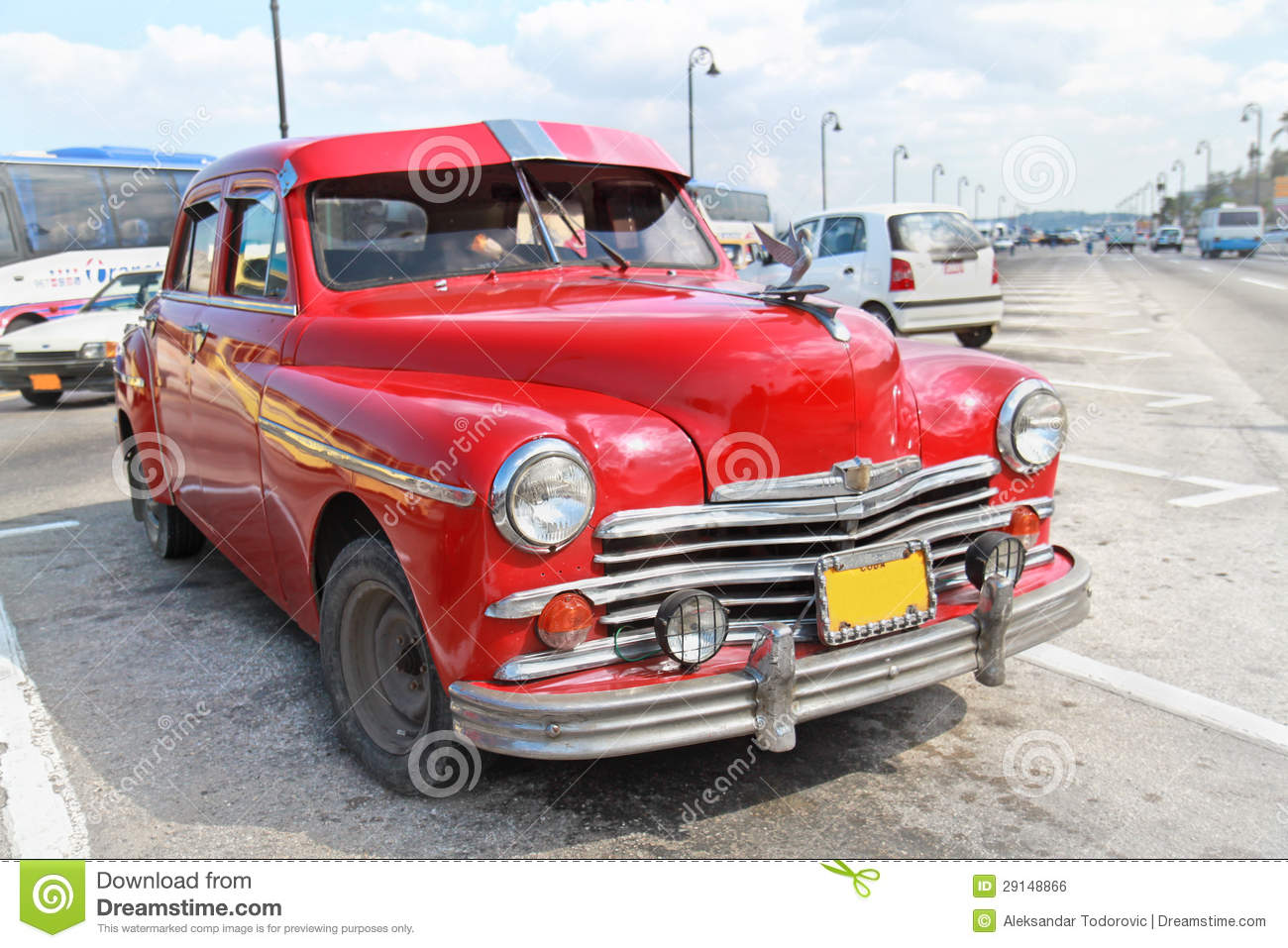 1959 plymouth sport fury interior related keywords - Classic Red Plymouth In Havana Cuba Royalty Free Stock Image