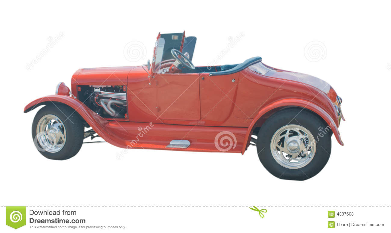 Classic red roadster hot rod