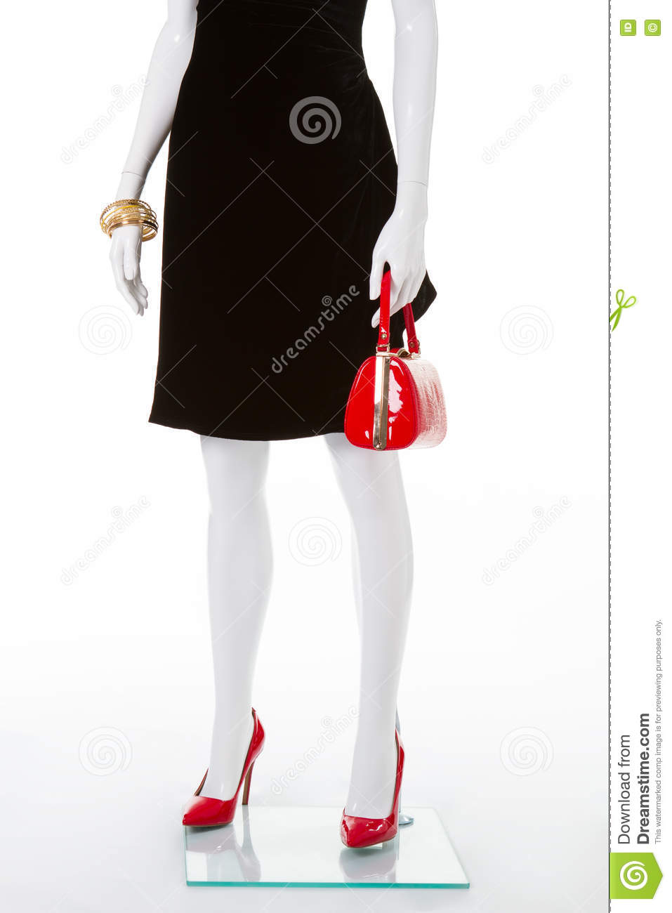 19ddad1a830 Classic Red Shoes And Handbag. Stock Photo - Image of garment ...