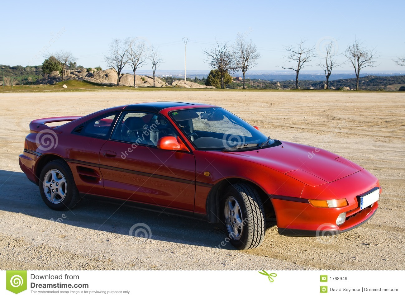Classic Red Sports Car. Royalty Free Stock Images  Image: 1768949