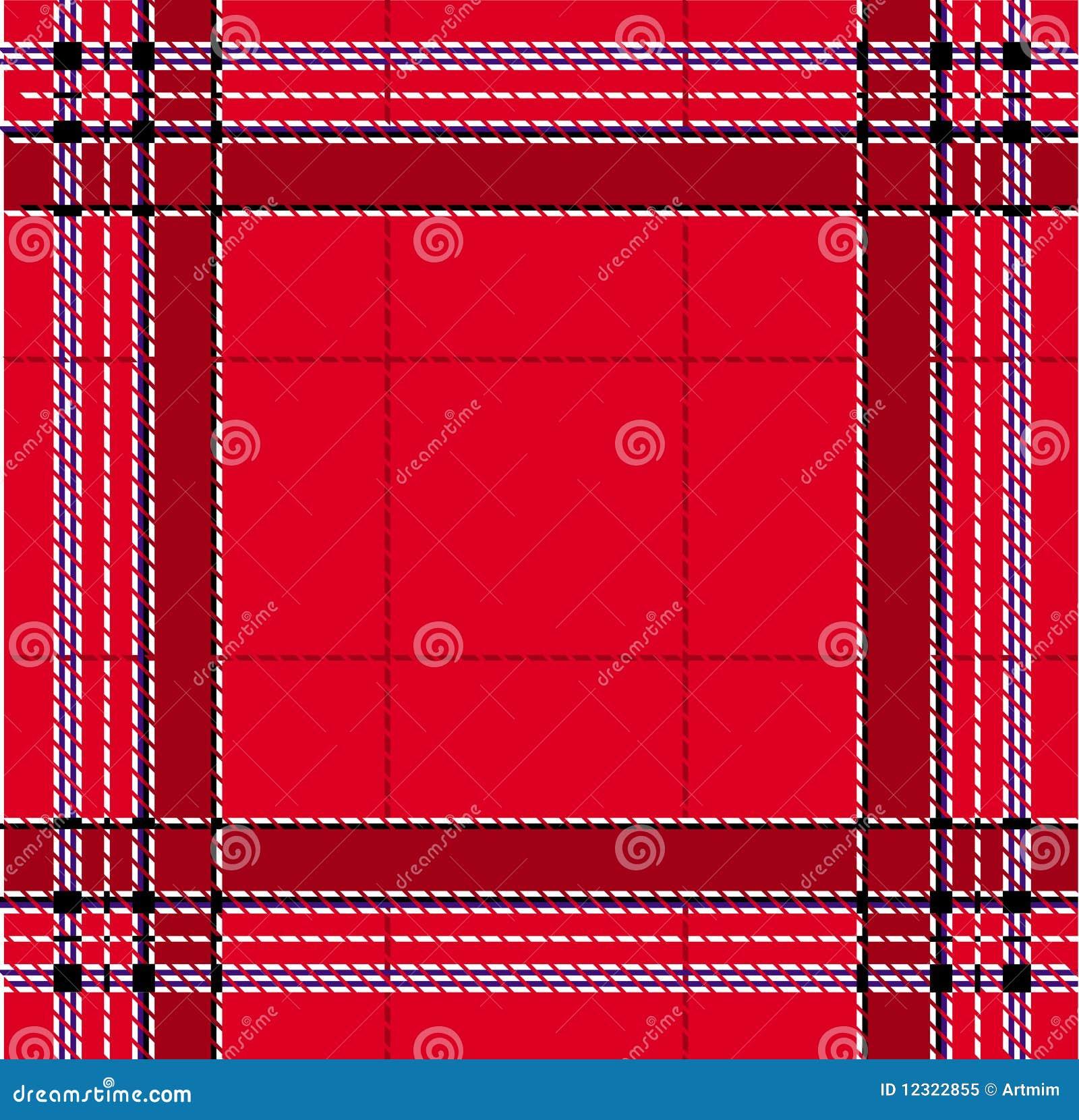 Classic red tartan