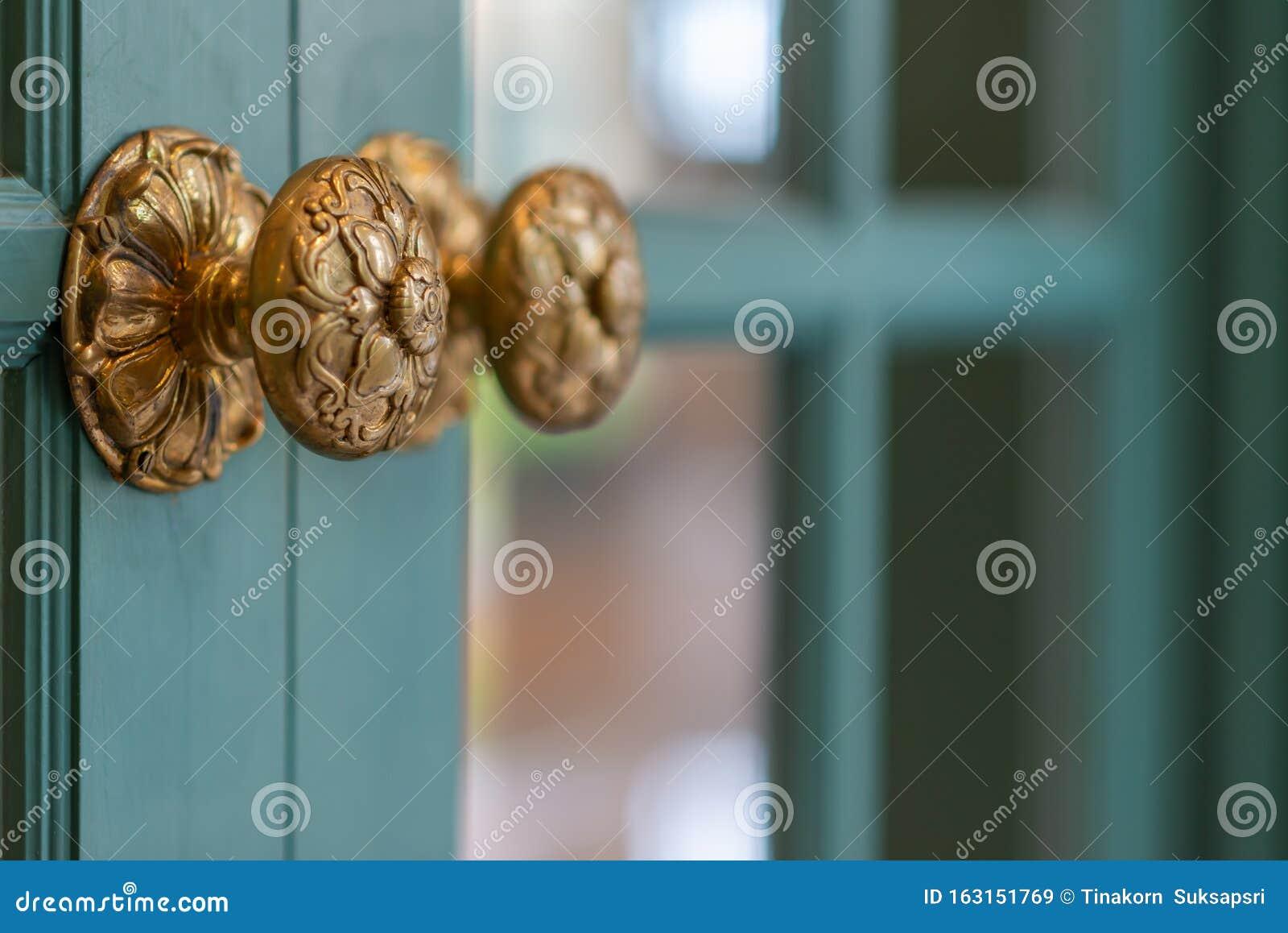 Classic Retro Brass Door Knob Vintage Decoration Retro Interior Stock Image Image Of Architecture Exterior 163151769