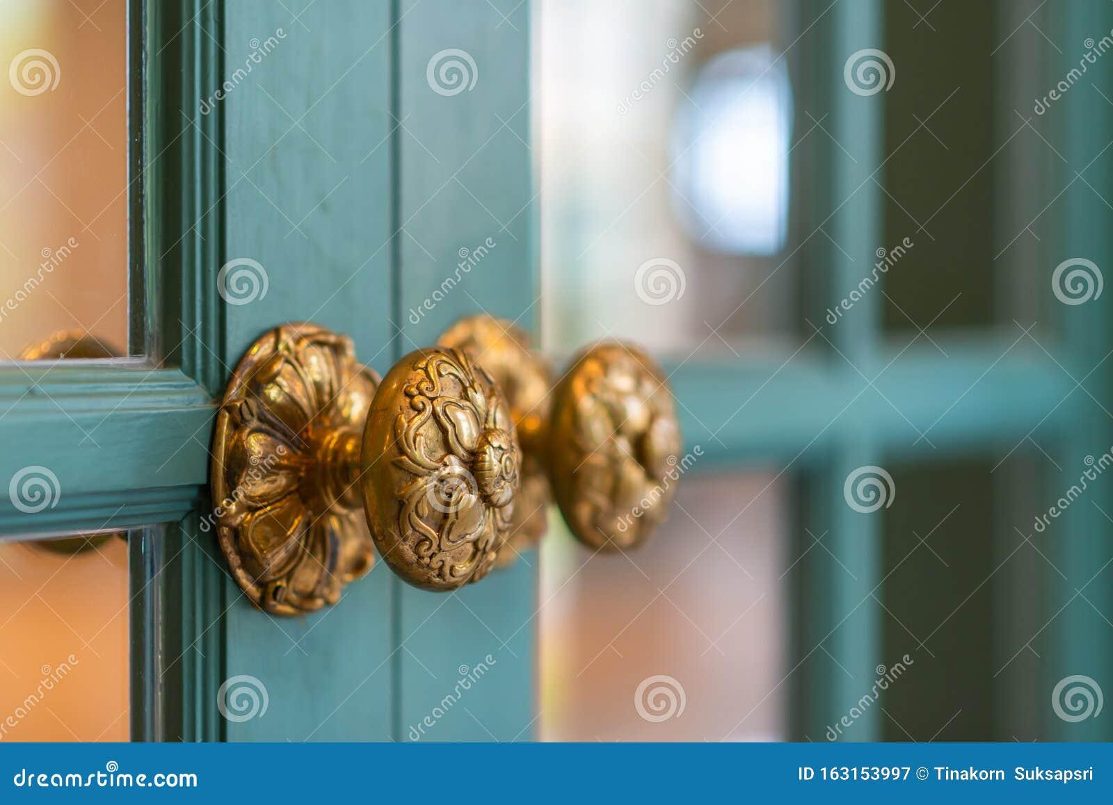 Classic Retro Brass Door Knob Vintage Decoration Retro Interior Stock Image Image Of Doorway Classic 163153997