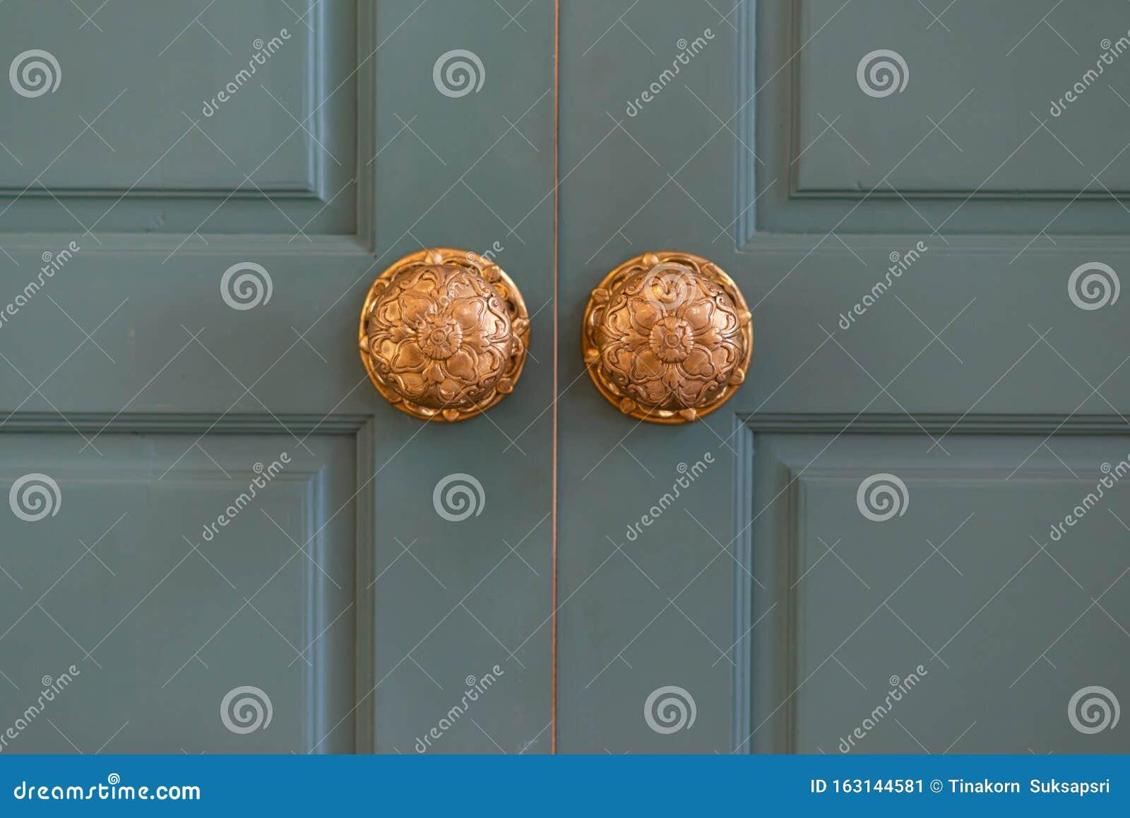 Classic Retro Brass Door Knob Vintage Decoration Retro Interior Stock Image Image Of Building Frame 163144581