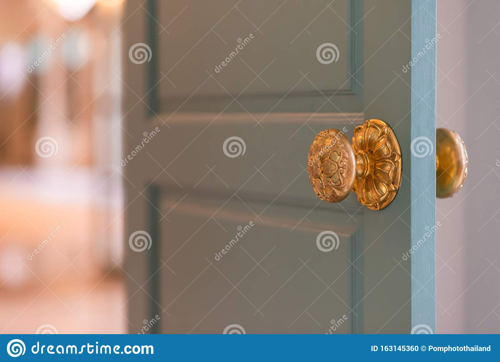 Classic Retro Brass Door Knob Vintage Decoration Retro Interior Stock Photo Image Of Handle House 163145360