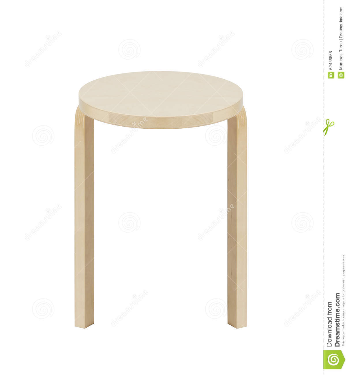 Terrific Classic Round Wooden Kitchen Stool Stock Photo Image Of Pabps2019 Chair Design Images Pabps2019Com