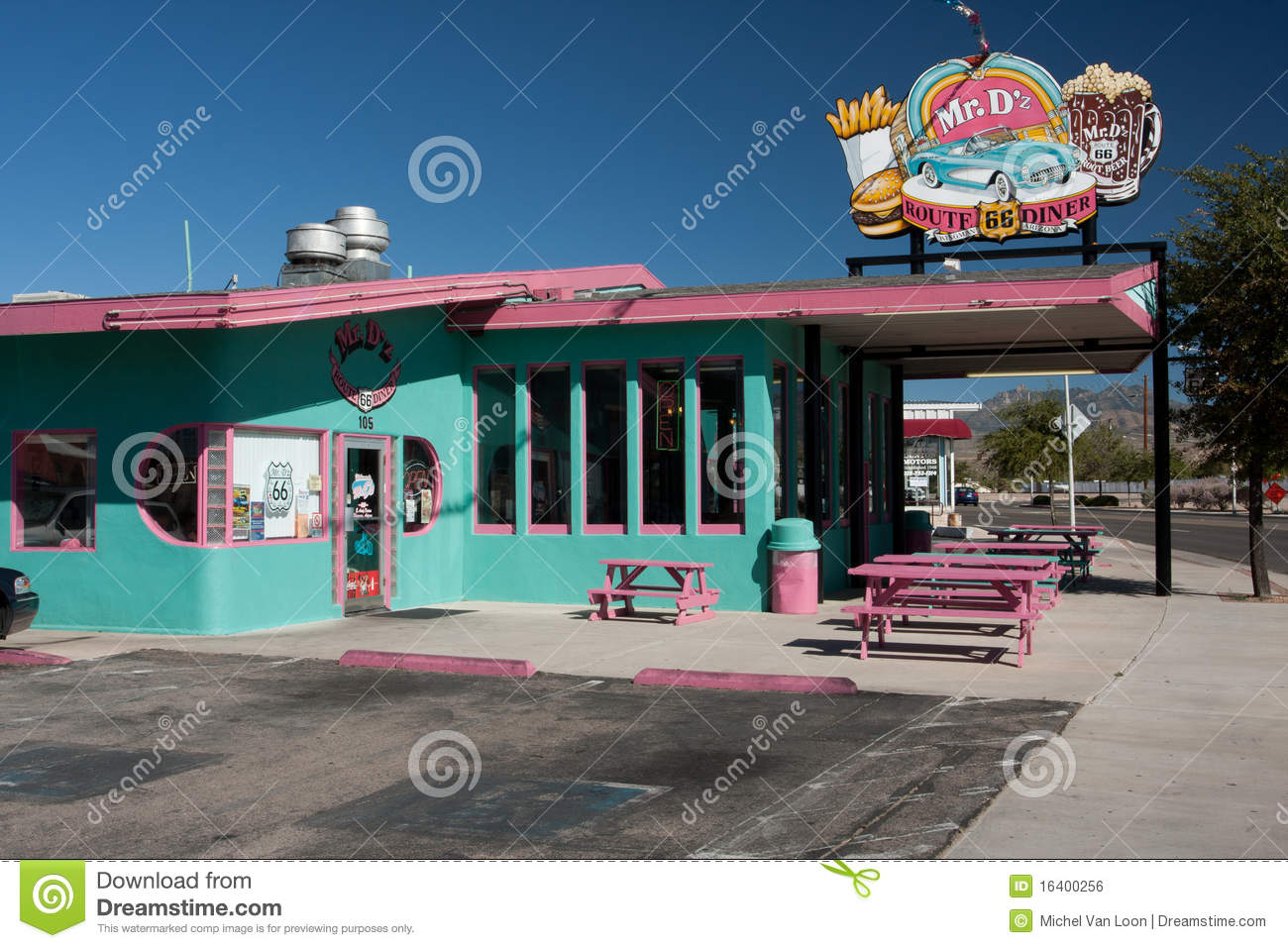 classic route 66 diner editorial photo. image of dining - 16400256