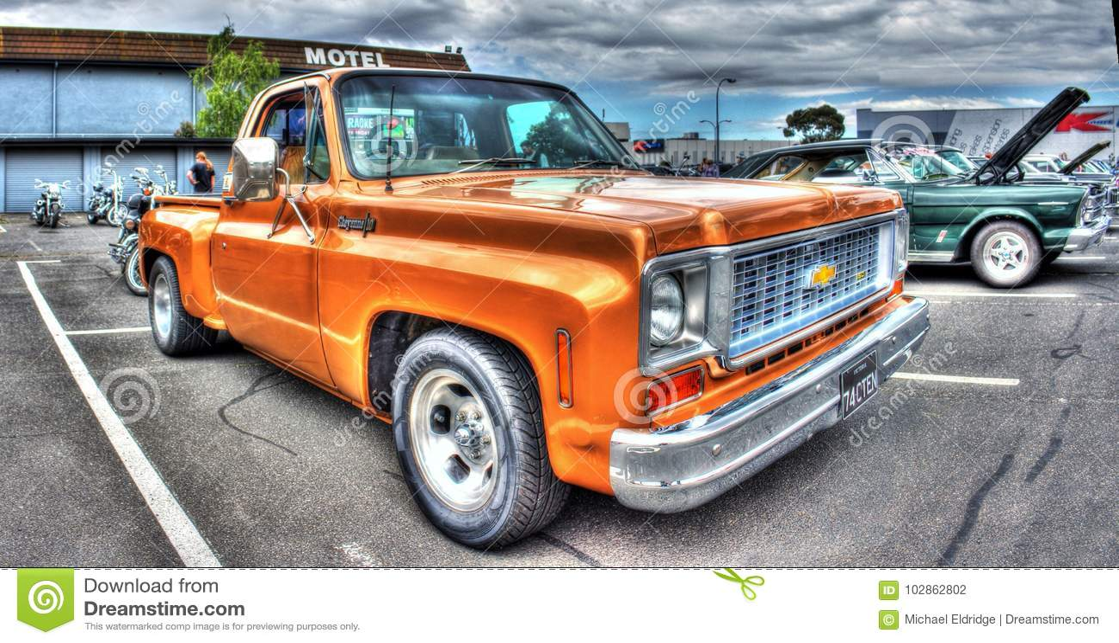 Classic 1970s American Chevy Cheyenne Pickup Truck
