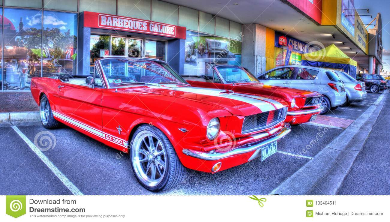 Classic 1960s american ford mustang
