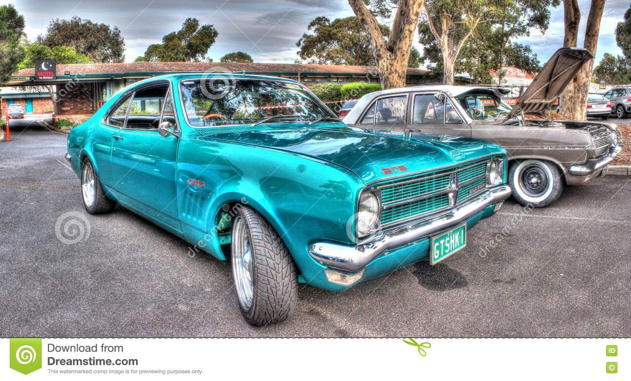 Classic 1960s Australian Built Holden Monaro Editorial Stock