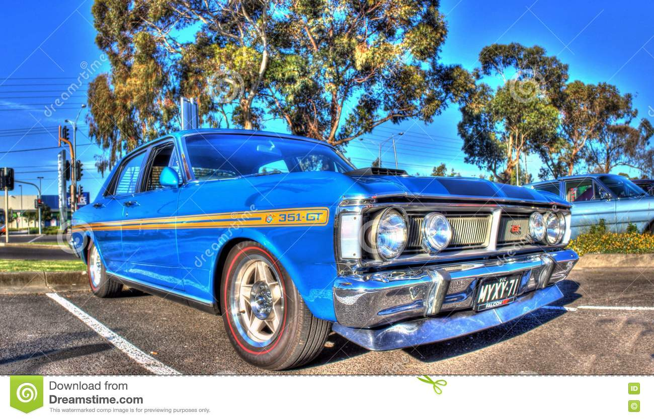 Classic 1970s Australian Ford Falcon Editorial Photography