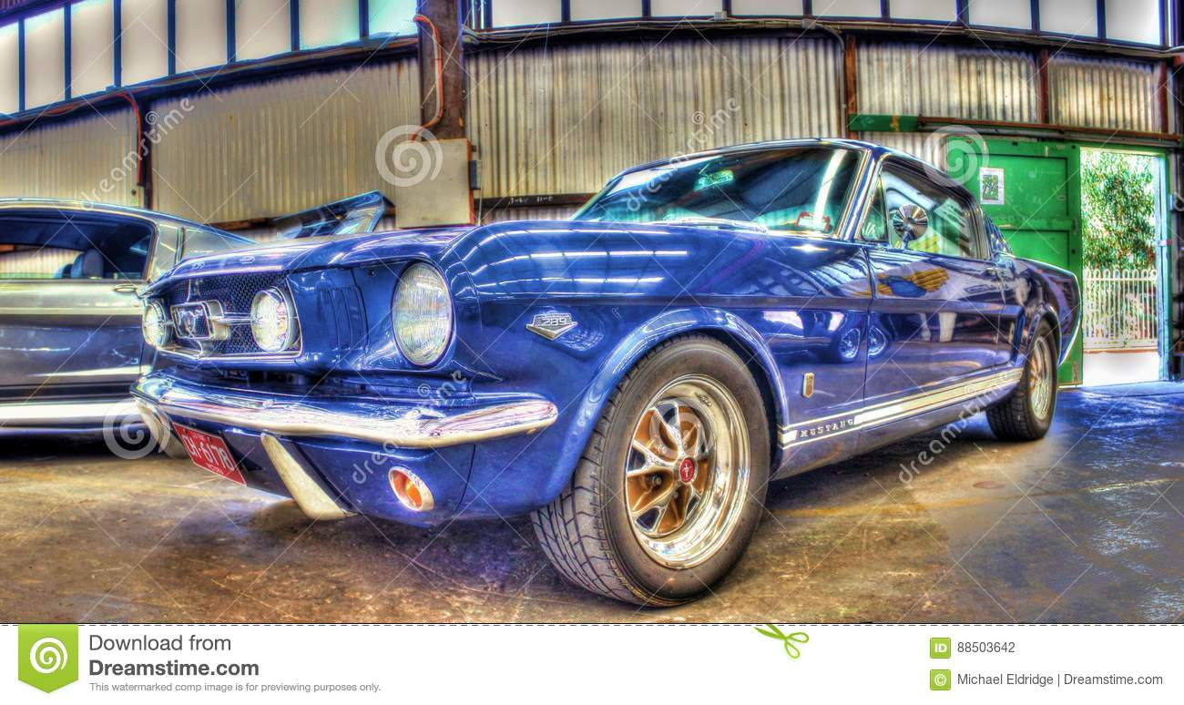 Classic 1960s Ford Mustang editorial photography  Image of