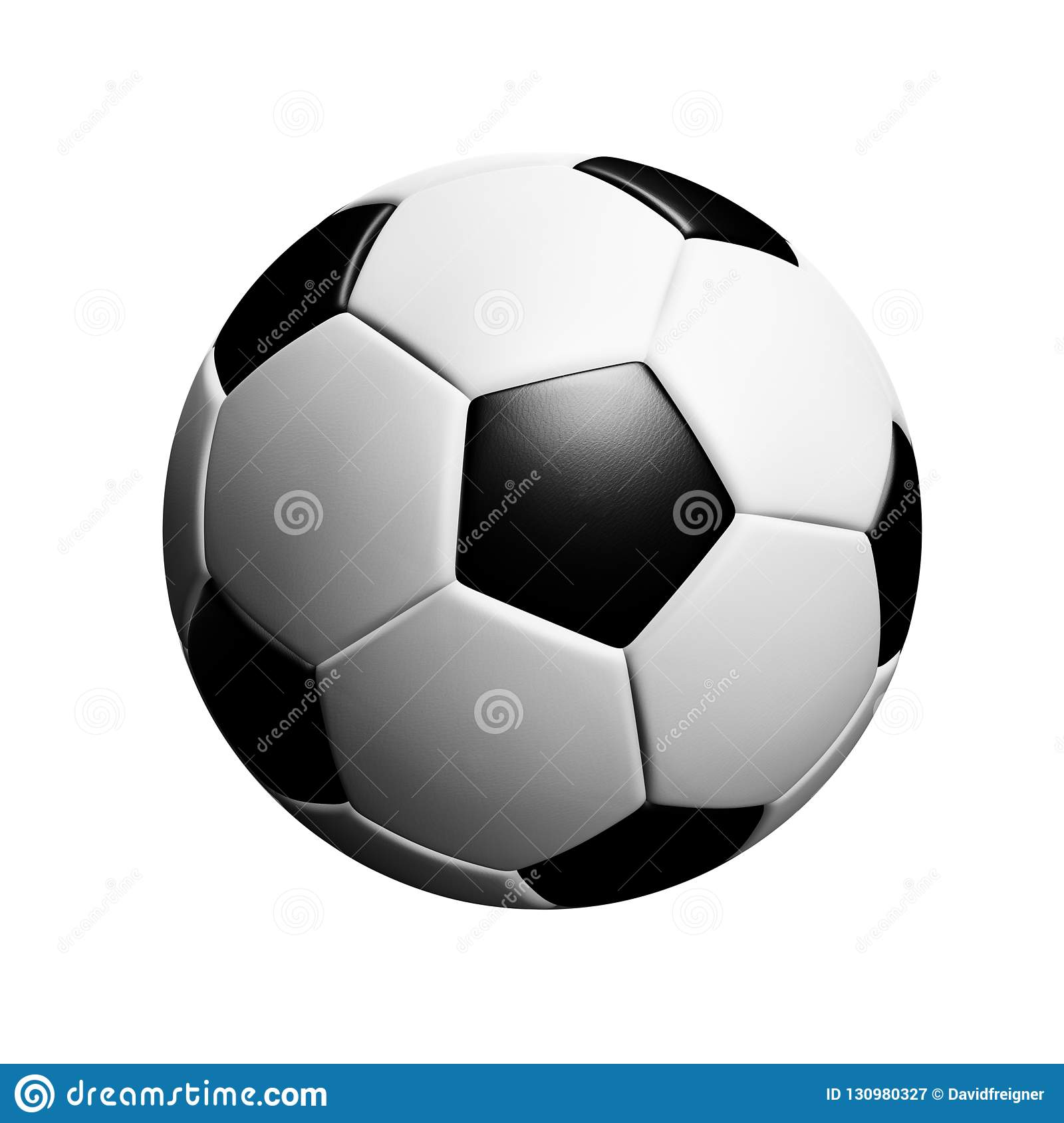 Classic soccerball lying on a piece of meadow