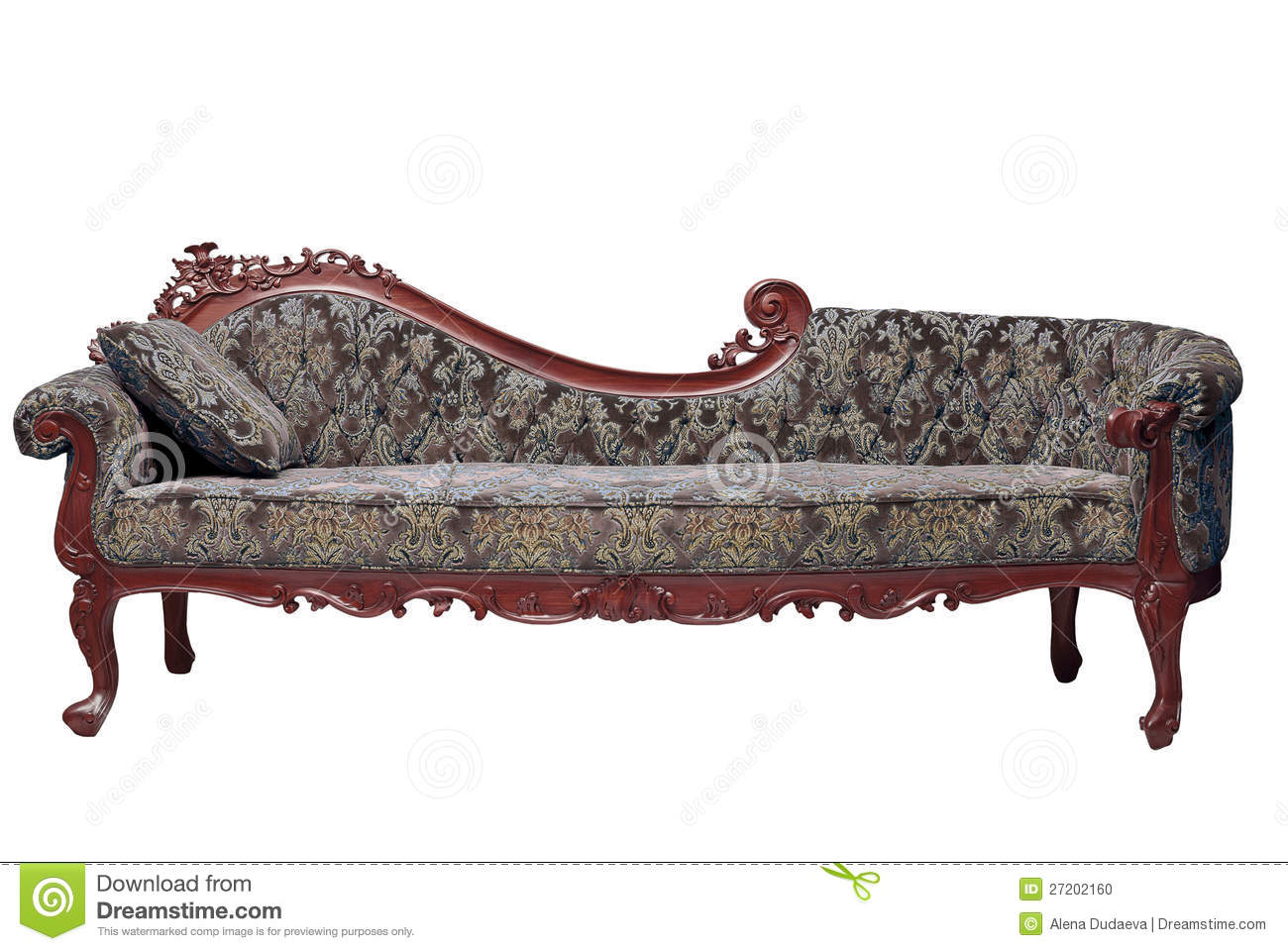 Classic Sofa Contemporary Style In Vintage Room Stock