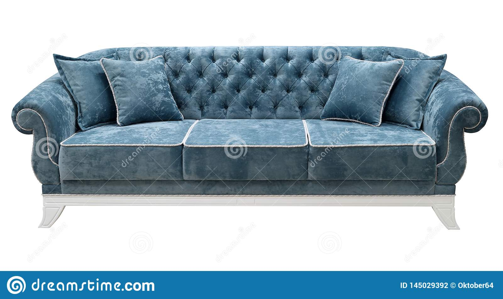 Pleasant Classic Sofa Isolated On White Background The Back Of The Ocoug Best Dining Table And Chair Ideas Images Ocougorg