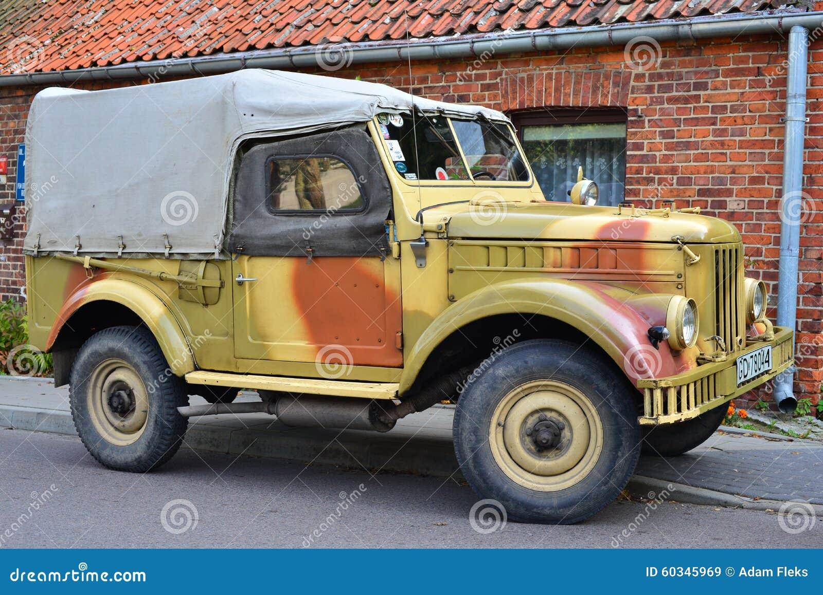 Classic Soviet Car Gaz 69 Editorial Stock Image Image Of