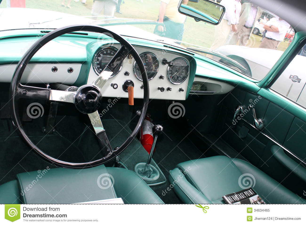 classic sports car interior dials editorial image image 34634465. Black Bedroom Furniture Sets. Home Design Ideas