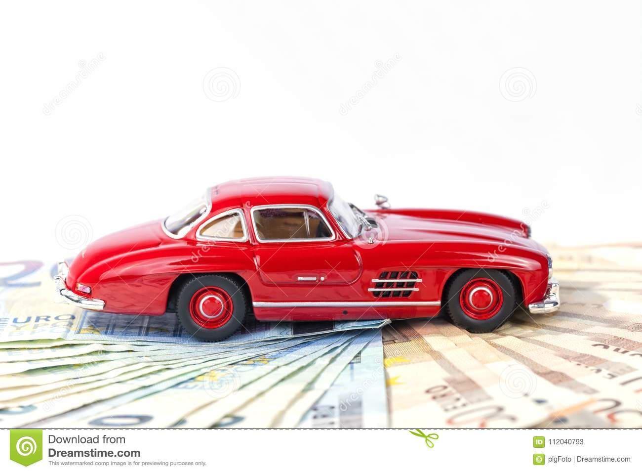 A Classic Sports Car Of The Year 1954 Of Red Color Over Euro Bil ...