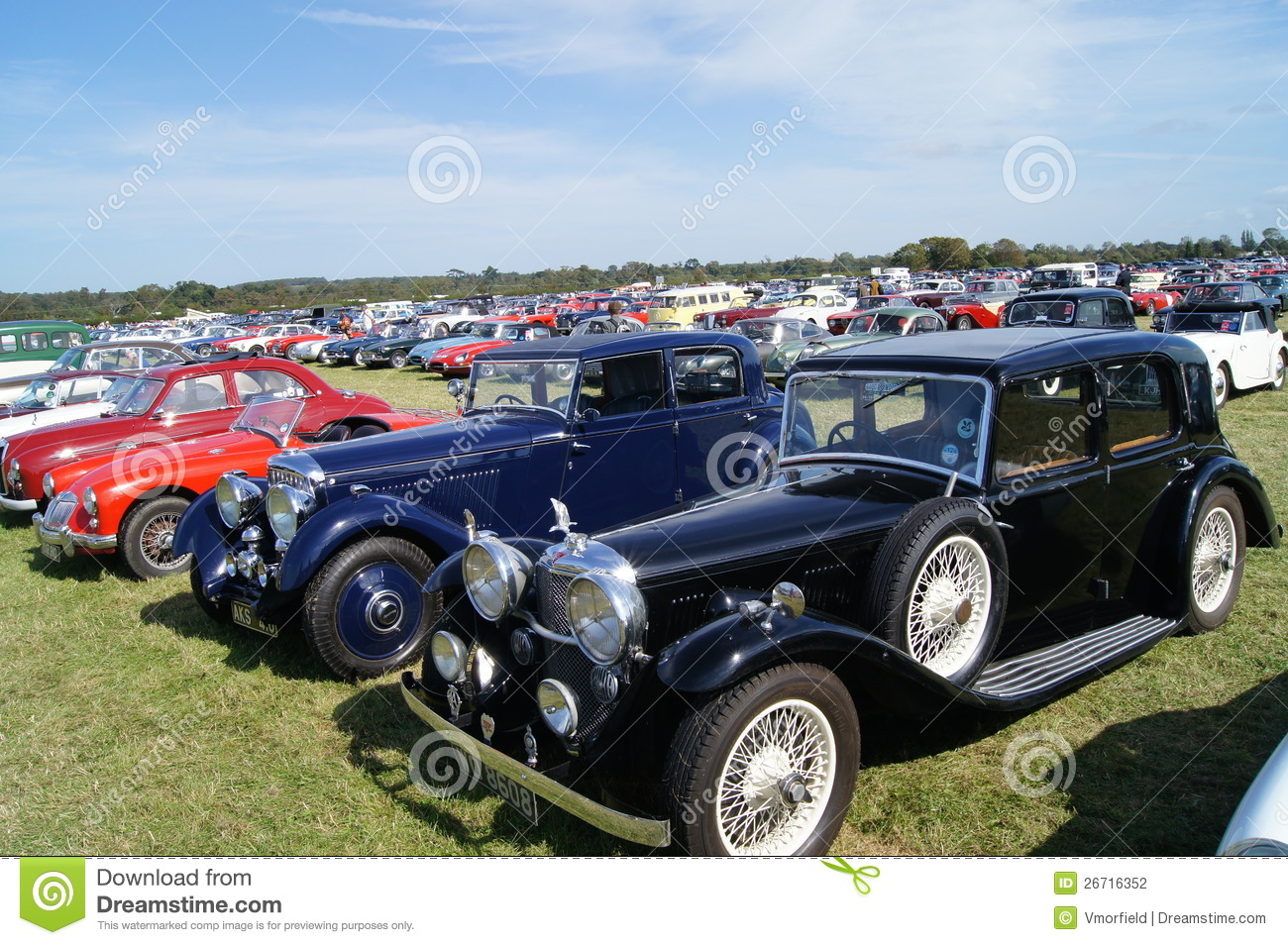 WEST SUSSEX, ENGLAND. SEPTEMBER 2012: Classic sports cars including