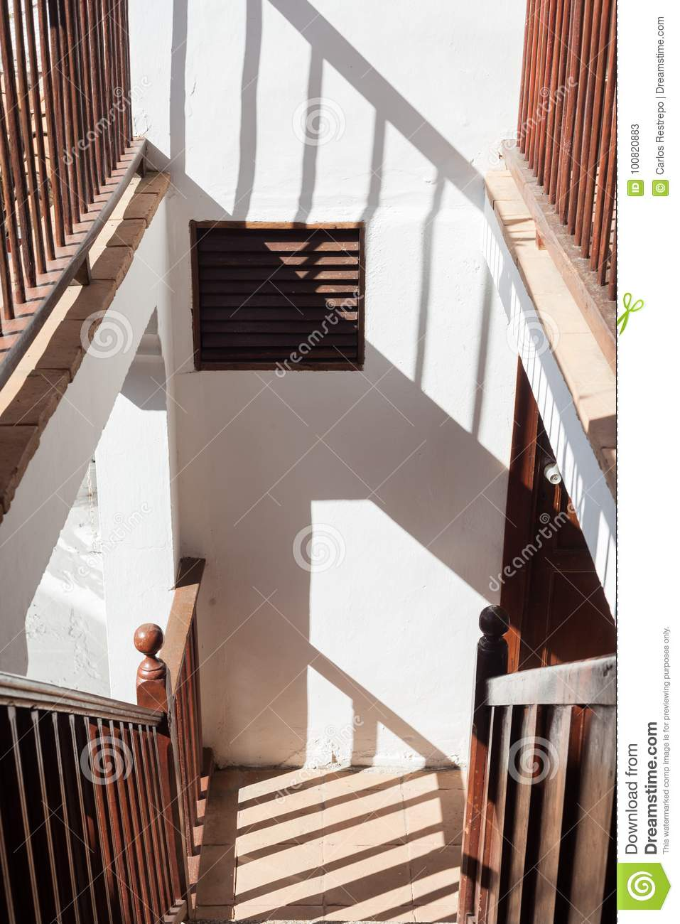 Download Classic Stairway Stock Image. Image Of Handrails, Style   100820883