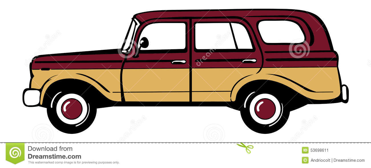 classic station wagon stock vector illustration of style 53698611 rh dreamstime com Tree Station Wagon Clip Art Station Wagon Packed Clip Art