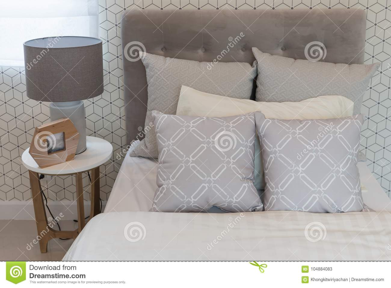 Classic Style Bedroom With Single Bed Stock Image Image Of Linen Bedroom 104884083
