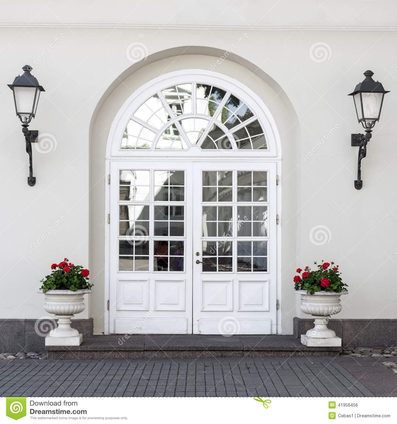 Classic Style Front Door Stock Photo Image Of Detail
