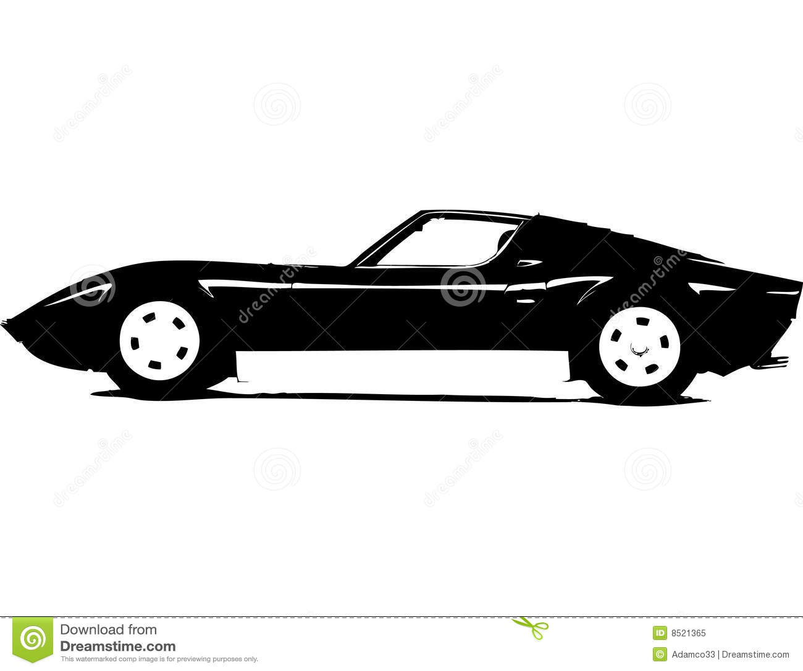 Classic Supersport Car Stock Vector Illustration Of Aerodynamics 8521365