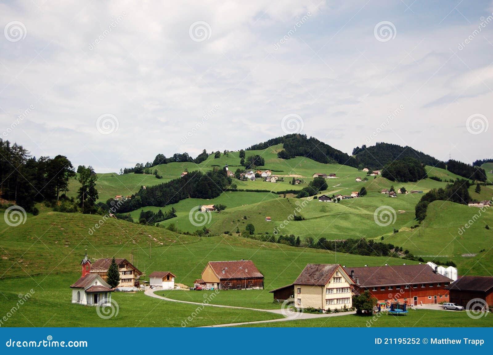 Classic Switzerland countryside