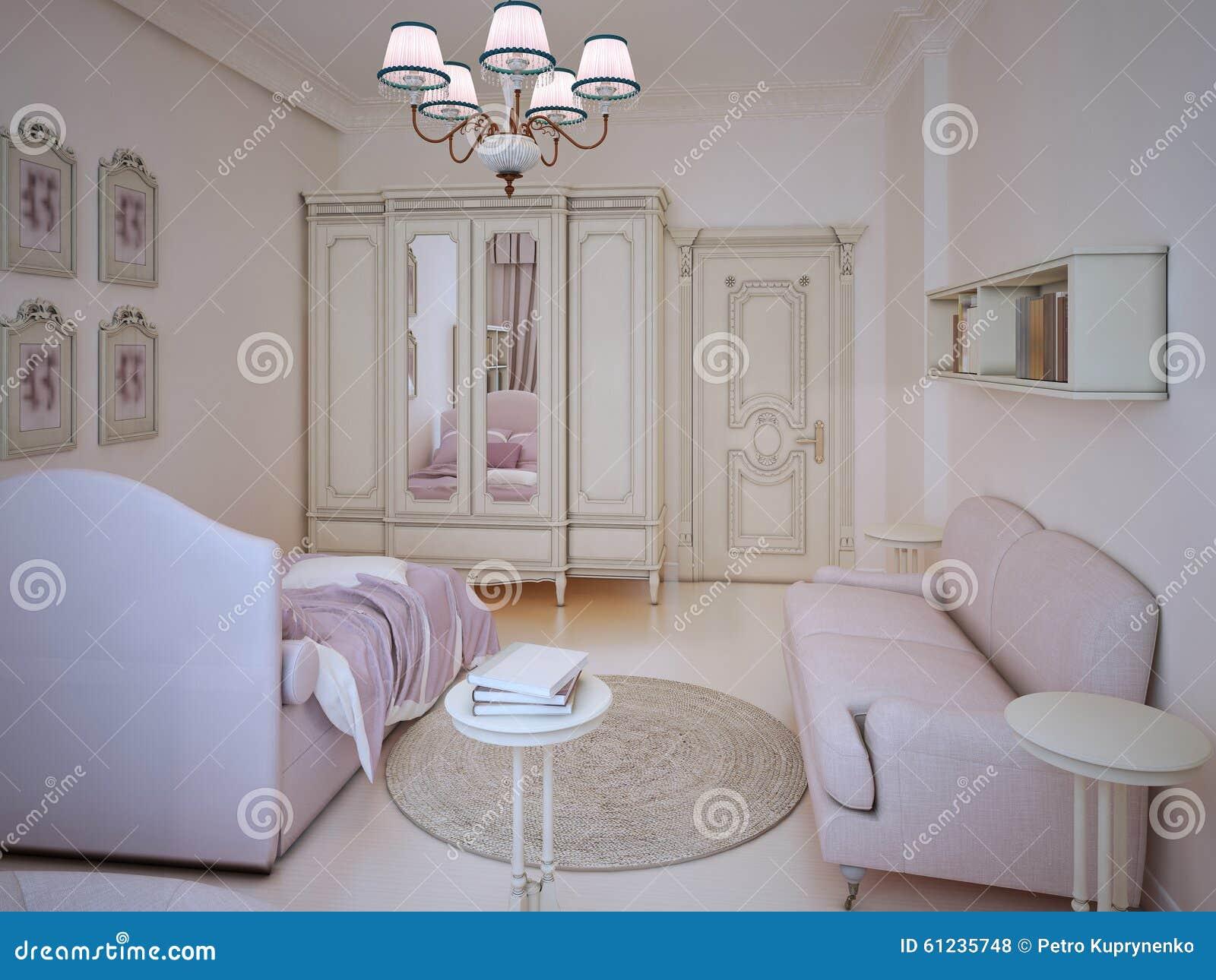 classic teenager girl bedroom stock illustration illustration of rh dreamstime com