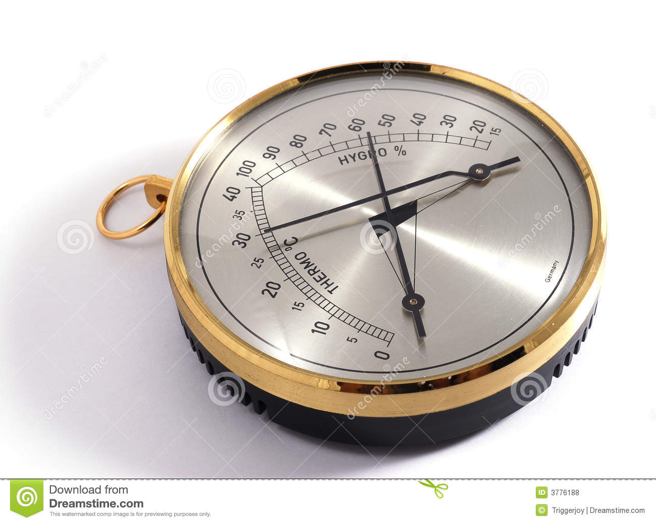 Classic Thermometer Amp Hygrometer Royalty Free Stock Photos