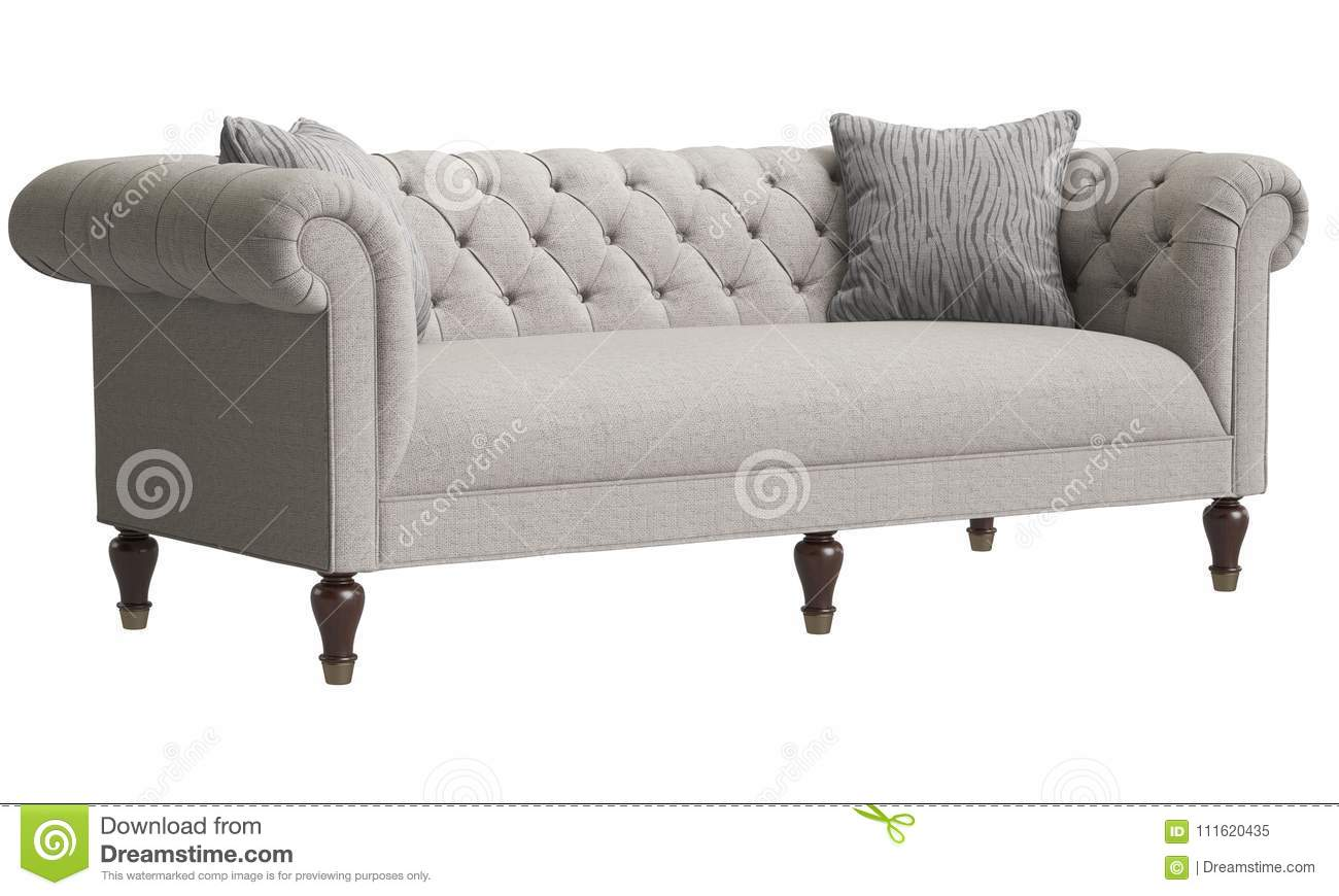 Remarkable Classic Tufted Sofa Isolated On White Background Digital Download Free Architecture Designs Grimeyleaguecom