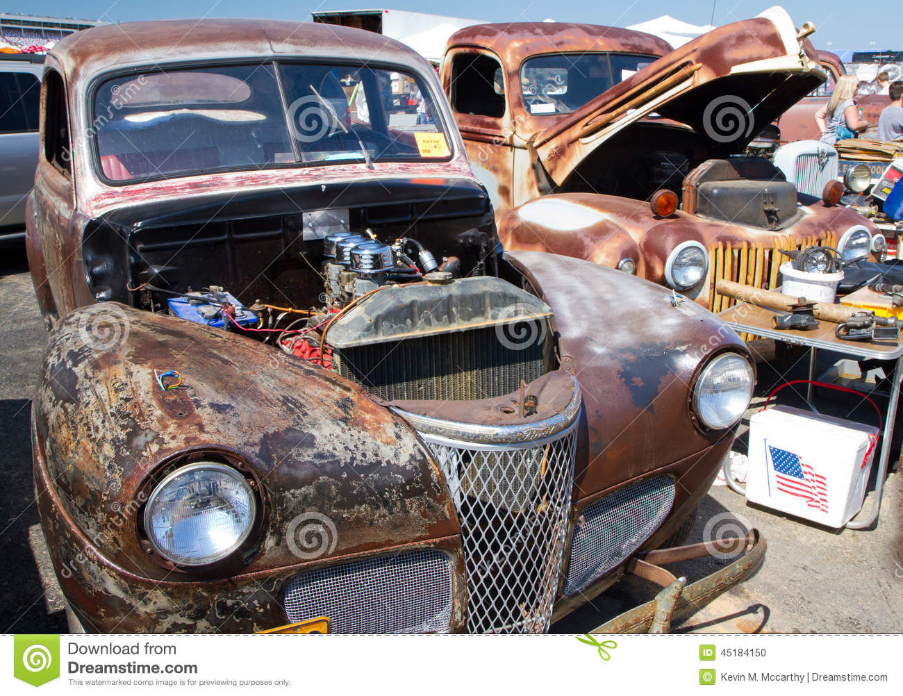 classic unrestored ford automobiles editorial image image of rusty