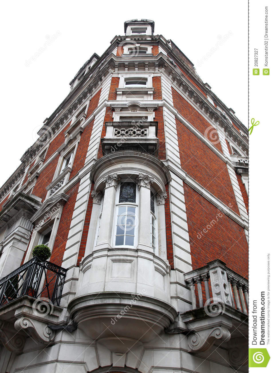 Classic victorian house london royalty free stock for Classic house old street london