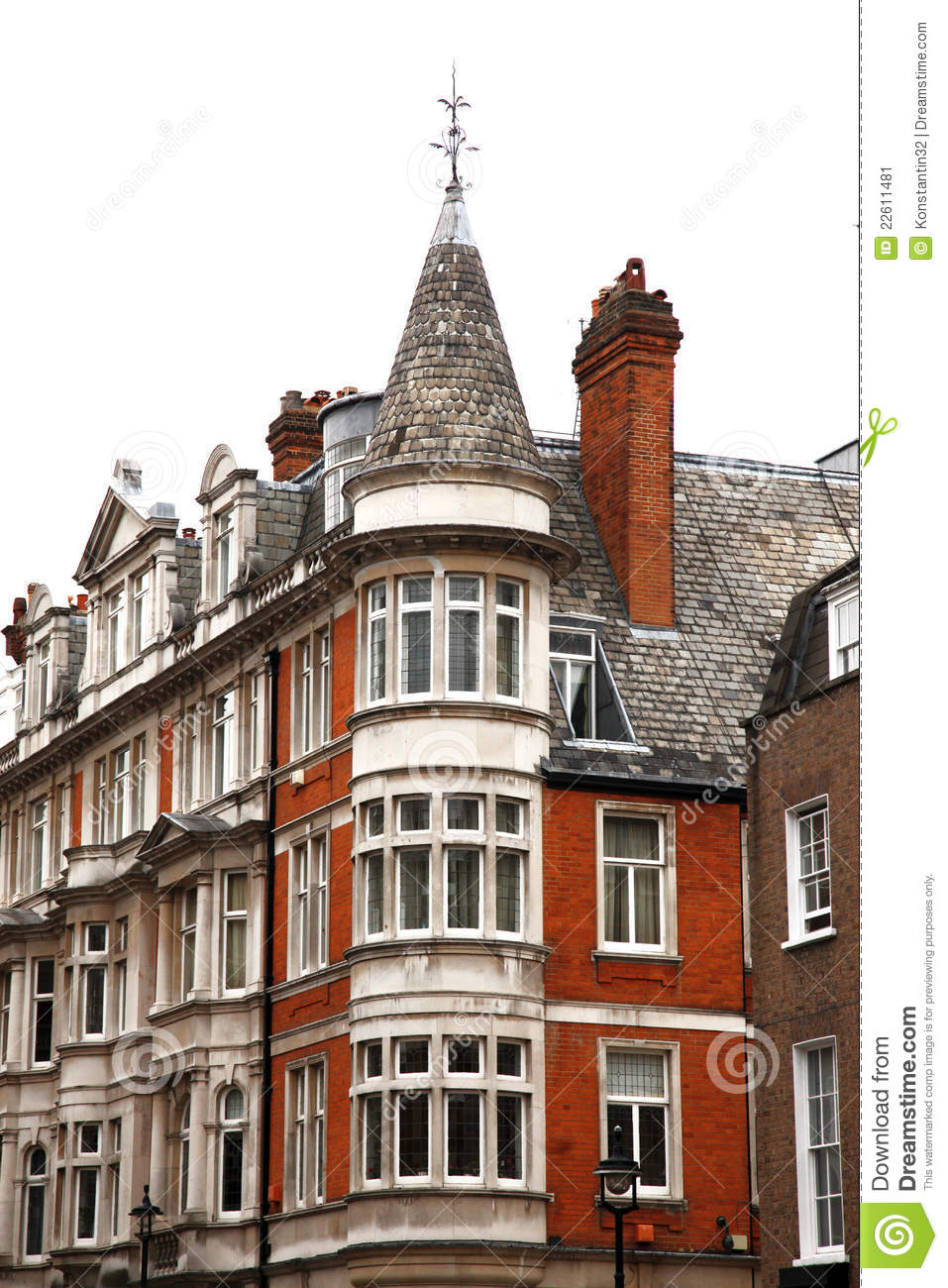 Classic victorian house london stock image image 22611481 for Classic house old street london