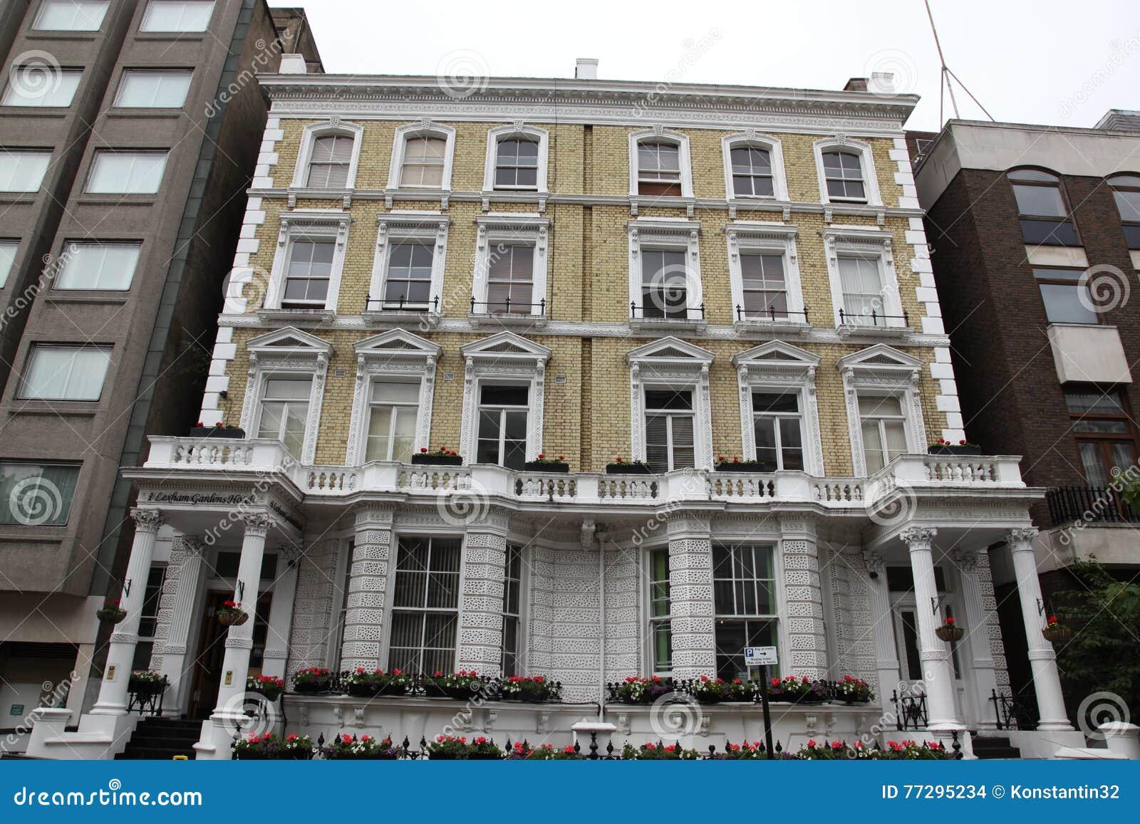 Classic Victorian House In London, Baker Street, UK Stock