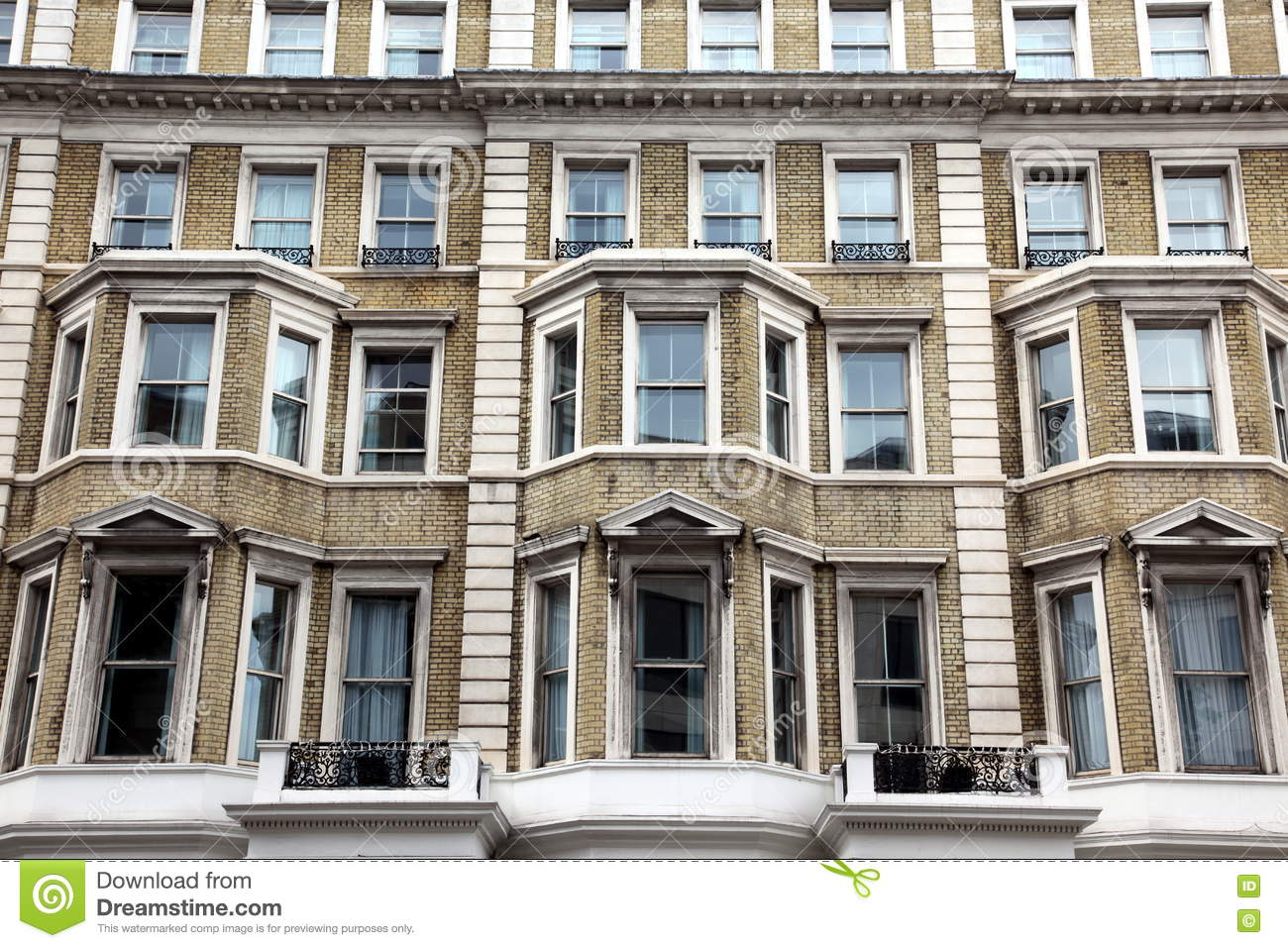 Classic victorian house in london baker street uk stock for Classic house old street london