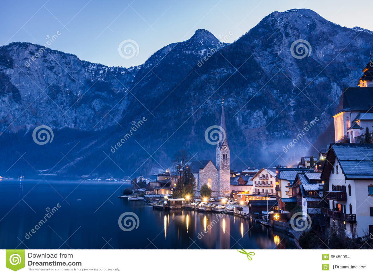 Classic View of Hallstatt Village, Austria