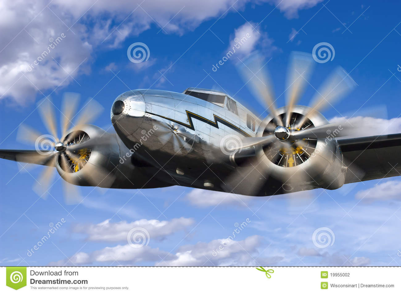 Download Classic Vintage Airplane Flight Flying Aviation Stock Photo