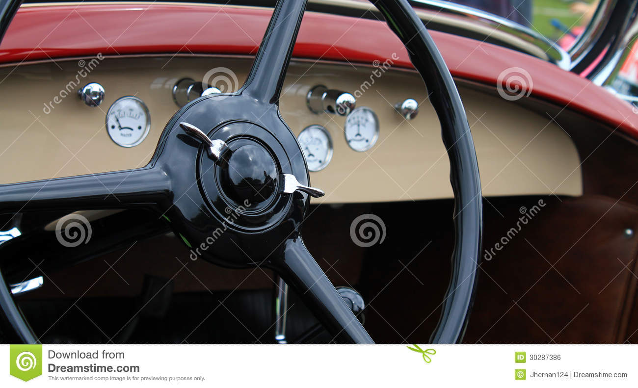 Classic vintage american car interior royalty free stock for American classic interior