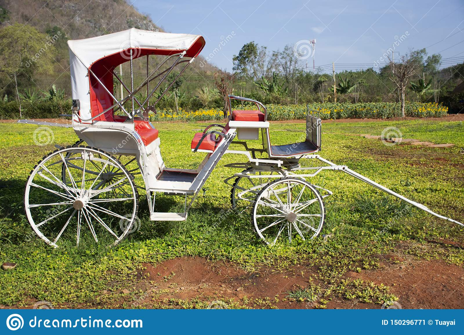 Classic vintage bicycle rickshaw at outdoor for thai people and travelers visit and take photo at Nakhon Ratchasima, Thailand T