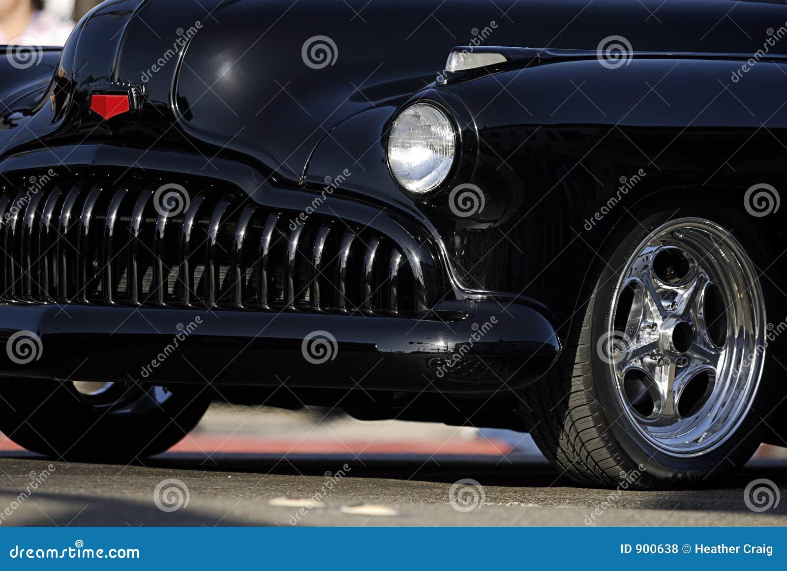 Classic Vintage Car: Black Grill Stock Photo - Image: 900638