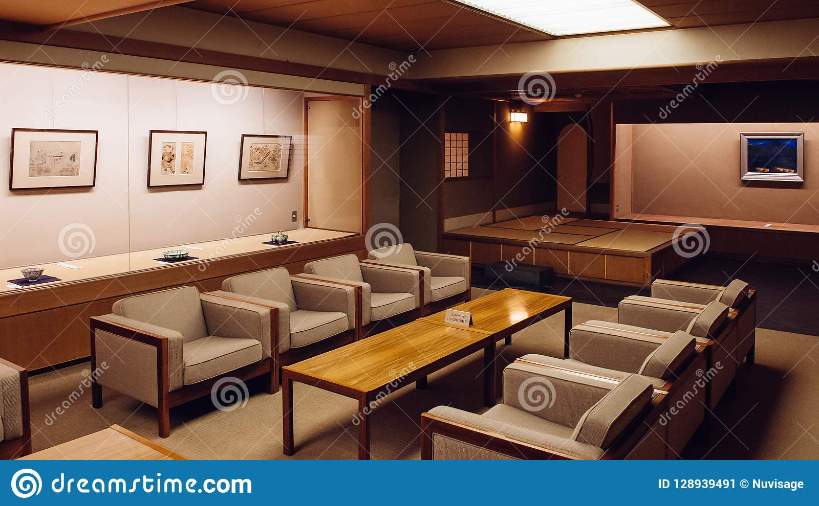 Classic Vintage Japanese Living Room Wood Table And Retro