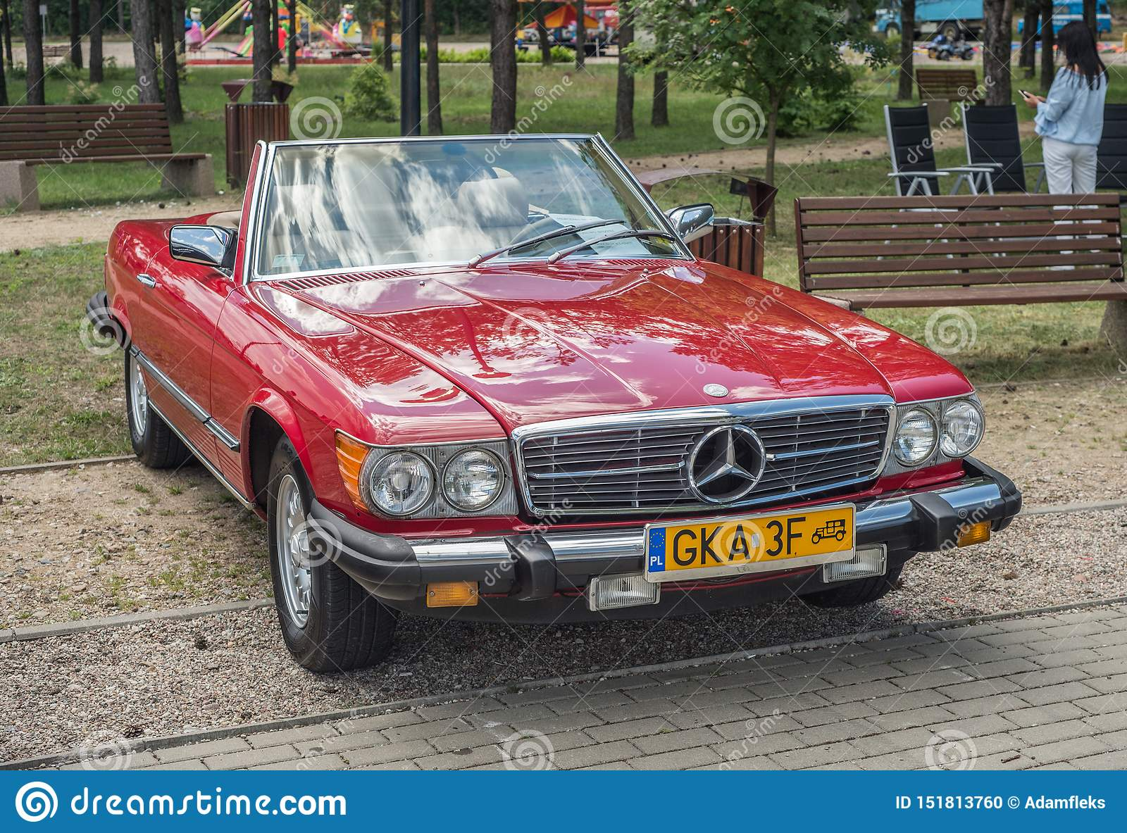 Classic Vintage Red Mercedes Benz Convertible Parked Editorial Image Image Of Logo History 151813760