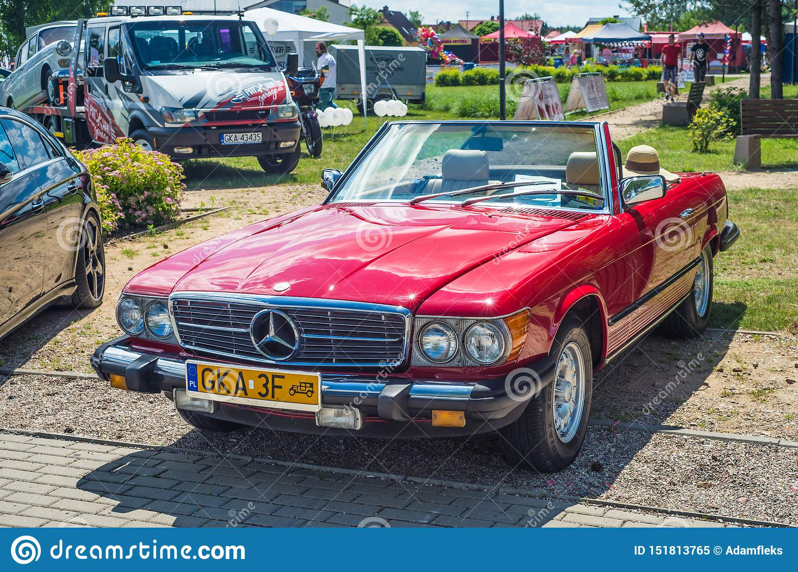 Classic Vintage Red Mercedes Benz Convertible Parked Editorial Image Image Of Automobile Cooled 151813765