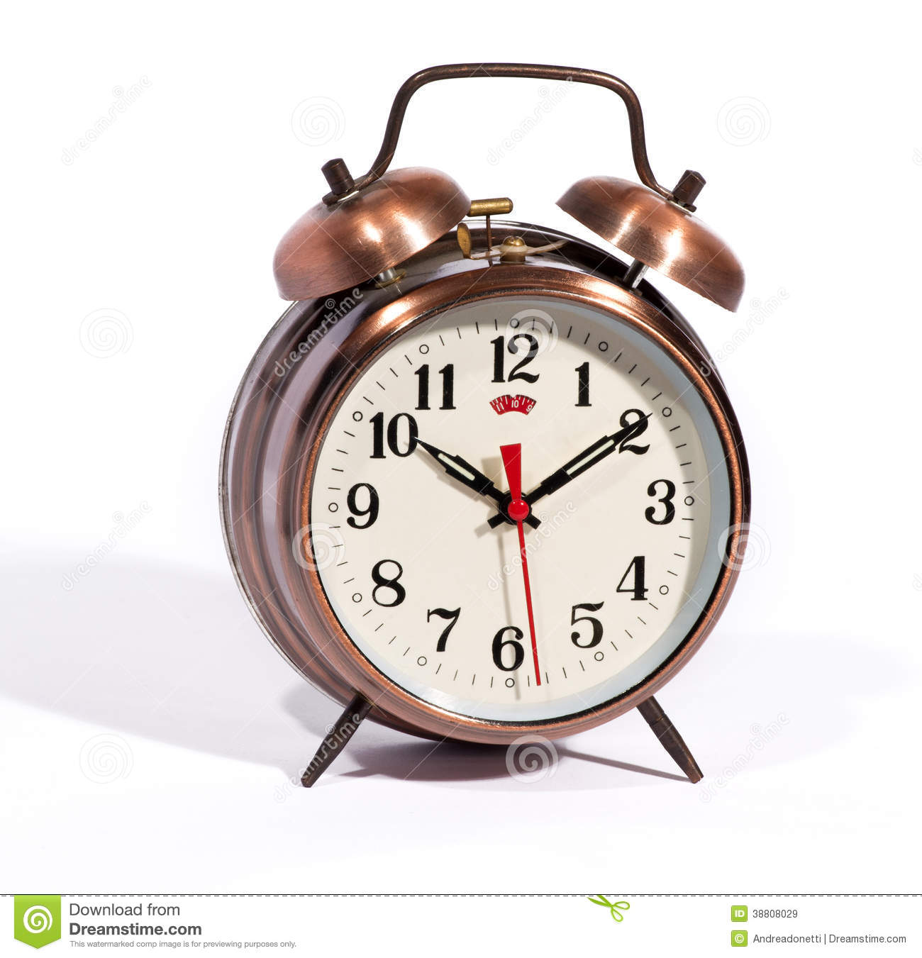 Classic Vintage Style Alarm Clock With Bells Stock Image Image Of