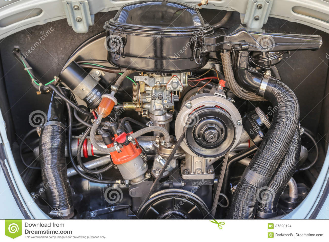 Classic Volkswagen Beetle Engine Editorial Stock Image Image Of Produced Boot 87620124