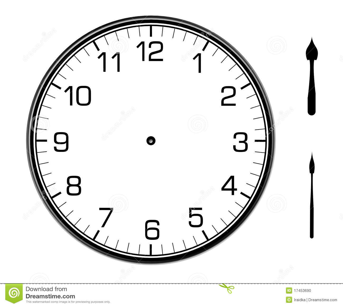 classic wall clock on the wall stock illustration With wiringpi clock mode