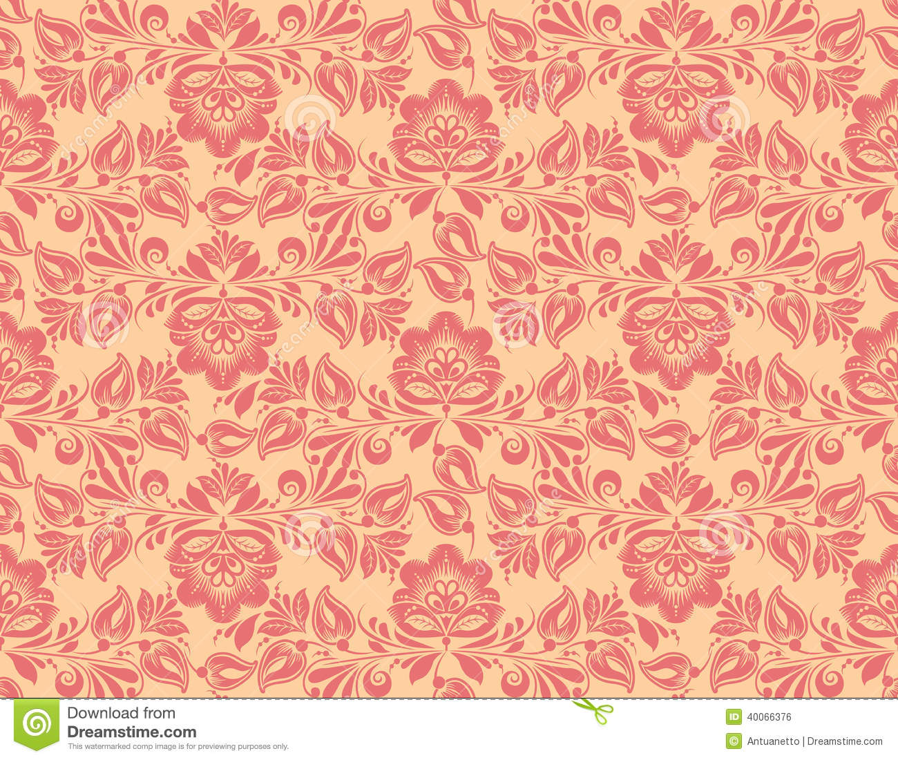 classic wallpaper seamless vintage flower pattern stock vector image 40066376. Black Bedroom Furniture Sets. Home Design Ideas